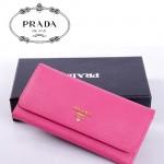 PRADA- 1M1132-35 新款女包牛皮手拿包長款錢夾