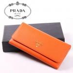 PRADA- 1M1132-34 新款女包牛皮手拿包長款錢夾