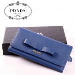 PRADA- 1M0506-33 新款PRADA 蝴蝶結女士牛皮長款錢包