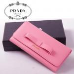 PRADA- 1M1132-30  中長款女士錢包 十字紋牛皮 牛皮錢夾