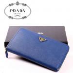 PRADA- 1M1188 男女士通用錢包十字紋牛皮手拿包多卡位錢夾