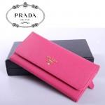PRADA- 1M1335-3  新款證件相片包女士女包 原版十字紋牛皮錢夾