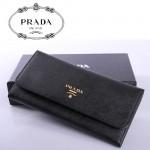 PRADA- 1M1335-1   新款證件相片包女士女包 原版十字紋牛皮錢夾
