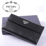 PRADA- 1M1133A-1  新款牛皮牛皮長款男女通用錢包卡包