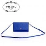 PRADA- 1M1361-3  新款牛皮帶鏡子長肩帶小包