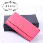 PRADA- 1M1349-1  最新款全皮女錢包 女包牛皮長款皮夾/錢包