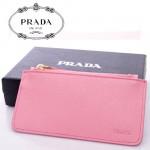 PRADA- 2M1343-3  新款牌拉鏈十字紋牛皮鑰匙扣零錢包女手拿手抓包