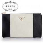 PRADA- BP625C  新款牛皮包包 女式時尚手拿包 化妝包 手包 晚裝包