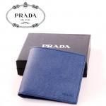 PRADA- 2M0513  錢包男士短款牛皮十字紋男包錢夾錢包