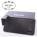 PRADA- 2M1343-1  新款牌拉鏈十字紋牛皮鑰匙扣零錢包女手拿手抓包