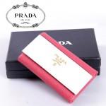 PRADA- KP5052A-3 進口十字紋牛皮 奢華休閑 男女士鎖匙包