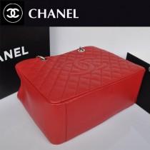 chanel 女包原版皮CHGST系列購物包 銀鏈 A36092