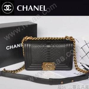 chanel 女士蟒蛇皮包 潮流品质包小号 a66094
