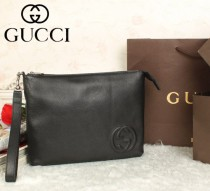 GUCCI|古馳專櫃新款322054-1真皮護照包手抓包女士手拿包男式手腕包零錢包