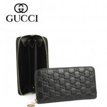 GUCCI 女裝錢包長款單拉鏈皮夾 212110-1