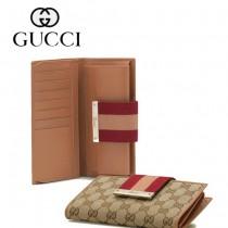 Gucci 女長款帆布2折錢夾時尚女款卡包 181668