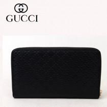 Gucci 男士長款錢夾皮夾咖啡色菱格紋 233193-1