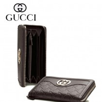 Gucci 全皮壓花長款錢夾皮夾 291132-1
