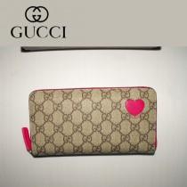 Gucci 心形錢包 拉鏈式長款女錢夾 323224