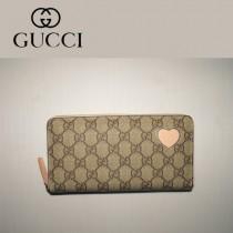 Gucci 心形錢包 拉鏈式長款女錢夾 323224-2