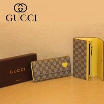 Gucci 心形 按扣長款女錢夾 323223-2