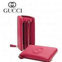 Gucci 浮雕雙G標誌 女長款錢夾 308280-3