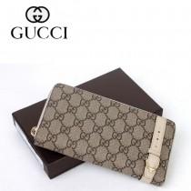 Gucci 歐洲潮流 中性長款錢夾 309758