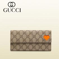 Gucci 心形 按扣長款女錢夾 323223