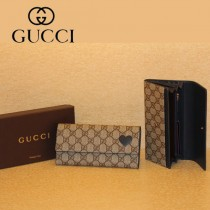 Gucci 心形 按扣長款女錢夾 323223-3