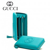 Gucci 浮雕雙G標誌 女長款錢夾 308280-1