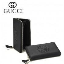 Gucci 浮雕雙G標誌 女長款錢夾 308280