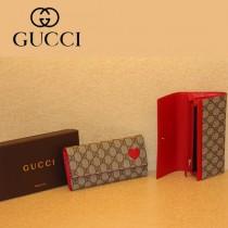 Gucci 心形 按扣長款女錢夾 323223-1