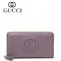 Gucci 浮雕雙G標誌 女長款錢夾 308280-2