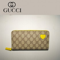 Gucci 心形錢包 拉鏈式長款女錢夾 323224-1