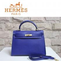 HERMES 6108-23  新款時尚爆款人氣深藍色女士掌紋包金扣