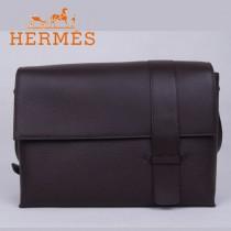 愛馬仕Hermes男包時尚潮流新款單肩包咖啡色1088-1