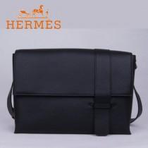 愛馬仕Hermes男包時尚潮流新款單肩包黑色1088