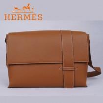 愛馬仕Hermes男包時尚潮流新款單肩包駝色1088-2