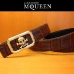 麥昆新款皮帶McQueen-003腰帶骷髏頭