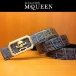 麥昆新款皮帶McQueen-001腰帶骷髏頭