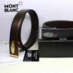 新款萬寶龍真皮皮帶時尚腰帶Montblanc-0009