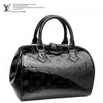 LV M90060 專櫃春夏人氣新款時尚女包 logo印花漆皮小手袋手提包黑色