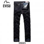 EVISU E6023-01 秋冬陳冠希大M印花街頭潮流男士直筒牛仔褲