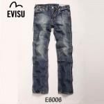 EVISU E6006 新款陳冠希同款男士秋冬嘻哈水洗破洞牛仔褲