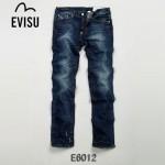 EVISU E6012 潮男必備陳冠希同款水洗街頭時尚直筒牛仔褲