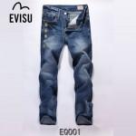 EVISU EQ001-01 新款韓版陳冠希直筒長褲 HIPHOP嘻哈福神牛仔褲 水洗褲