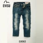 EVISU E6063-01 新款貓須水洗直筒牛仔褲 陳冠希同款 男士長褲