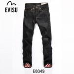 EVISU  E6049-01  時尚新款陳冠希同款水洗直筒嘻哈牛仔褲 男長褲