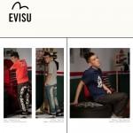 EVISU E6052-01 陳冠希同款新款潮牌男褲 嘻哈寬大韓版街頭牛仔褲