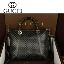GUCCI 323677 最新款黑色全皮女款多功能歐美簡單耐看型包包